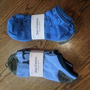 Juicy couture, 2 packs of 5  footie socks